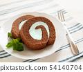민트 초콜릿 롤 케이크 54140704