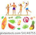 Summer Beach Party Banner, Vector Placard Sample 54140755