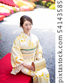 和服女性肖像 54143585