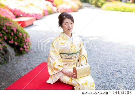 기모노 여성 인물 54143587