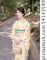 和服女性肖像 54143589