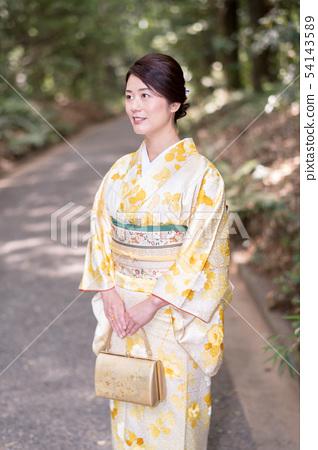 기모노 여성 인물 54143589