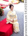 Kimono female portrait 54143590