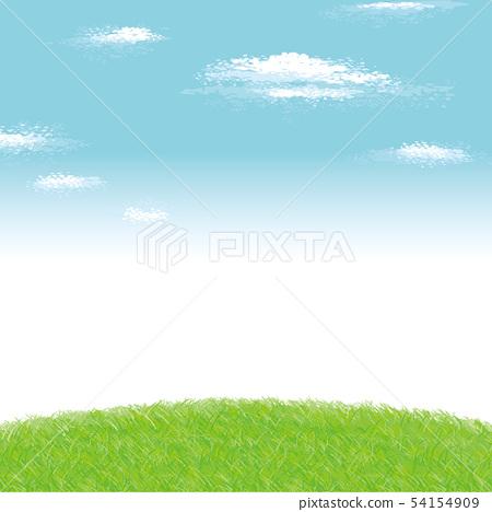 광장의 풍경 배경 일러스트 54154909