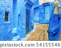 Chefchaouen, a city with blue painted houses. A 54155546
