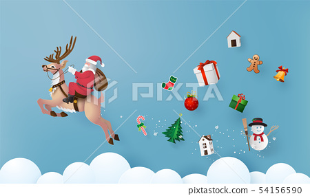 Merry Christmas and Happy New Year 54156590