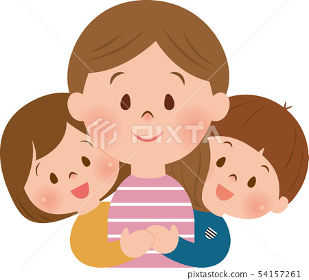 Mom and children 54157261