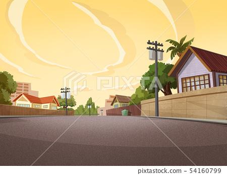 Village in the evening 54160799