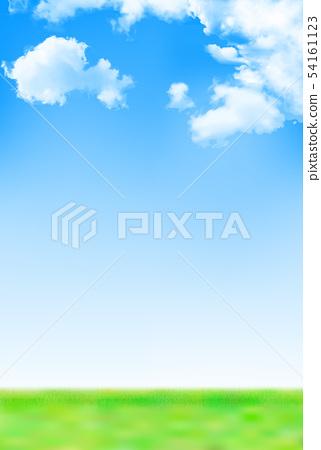 하늘 초원 풍경 배경 54161123