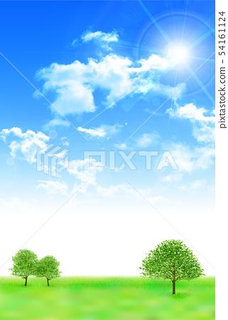 天空大草原風景背景 54161124