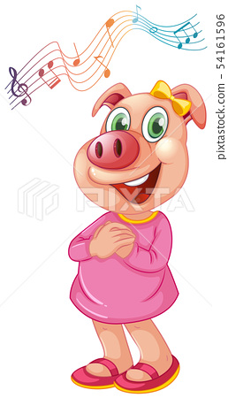 A pig female character 54161596