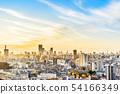 city skyline aerial night view of oji in japan 54166349