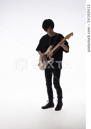 Guitar playing 54168413