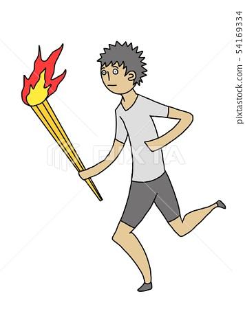 Torch runner boy 54169334