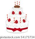 생일 케이크 일러스트 54173734