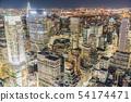 탑 오브 더 락 (록펠러 센터 전망대)에서 보이는 시내의 야경 54174471