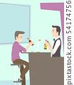Man Drink Bartender Beer Illustration 54174756