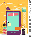 Mobile Apps Construction Illustration 54174819