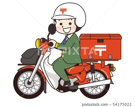 郵差與自行車 54175022