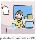 ผู้หญิงที่ถูกขอให้ทำงาน 54175991