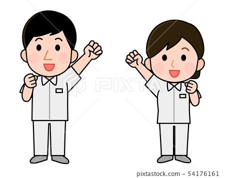 직업 간호사 남녀 일러스트 54176161