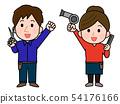 직업 미용사 남녀 일러스트 54176166