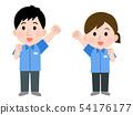 직업 편의점 점원 남녀 선없이 일러스트 54176177