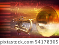 abstract grunge background with trumpet 54178305
