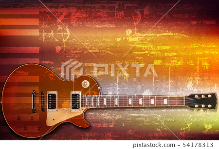 abstract grunge background with drum kit 54178313