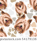 Pattern Dog Paws Yorkshire Terrier 54179136