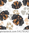 Pattern dog paws dachshund 54179142