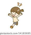 달리는 소녀 54183695