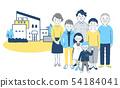 家庭和房子7藍色 54184041