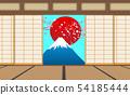 Interior decoration of dojo room in japan 54185444