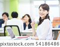 Bright casual office scene 54186486