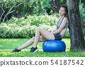 young beautiful sport fitness girl  relax on 54187542