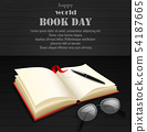 World book day with open book 54187665