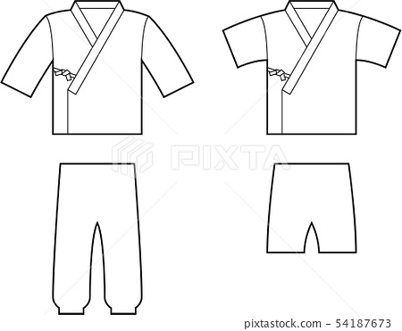 Working clothes line drawing 54187673