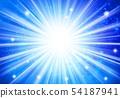 파란색 반짝이 이미지 방사형 54187941