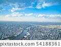 도쿄의 도시 풍경 하늘 하늘 구름 하늘과 구름과 대도시 건물 빌딩 사업 복사 공간 배경 자료 54188361