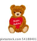 与心脏的玩具熊例证 54188401