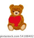 与心脏的玩具熊例证 54188402