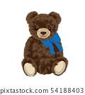玩具熊例证被包裹的丝带 54188403