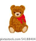 玩具熊例证被包裹的丝带 54188404