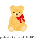在丝带包裹的玩具熊例证 54188405