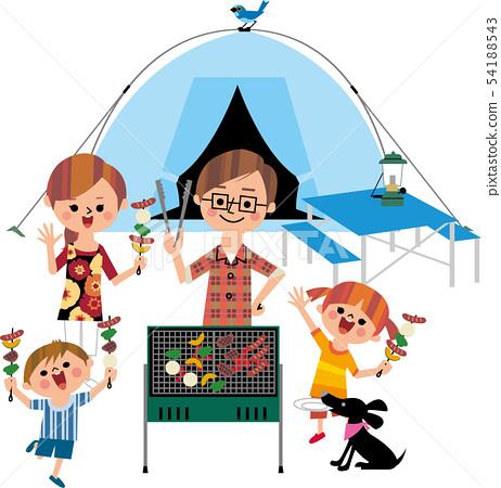 가족 캠프 (백 화이트) 54188543