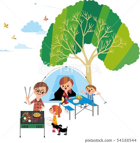 가족 캠프 (부감) 54188544