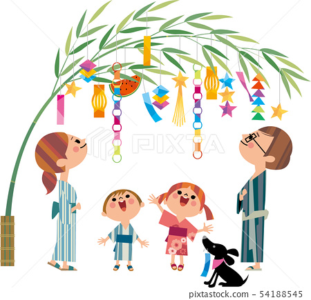 Tanabata與家人 54188545