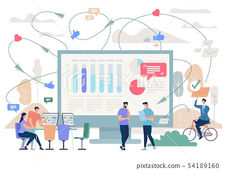 Business Planning and Analytics Vector Concept 54189160
