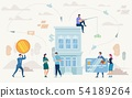 Loan on Business Purposes Flat Vector Concept 54189264